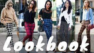 Latest Plaid Pants Outfit Ideas Trend for Spring | Spring Fashion Lookbook