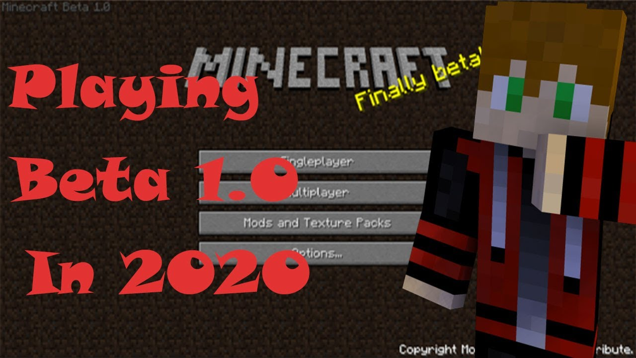 Playing Minecraft Beta 1.0 in 2020