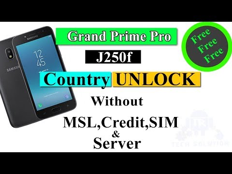 SM-J250F Unlock Firmware No Sim No Credit Without Password