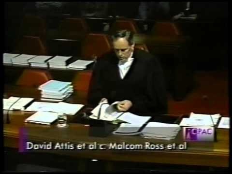Doug Christie Appears before the Supreme Court of Canada in the Malcolm Ross Case - Nov 1 1995