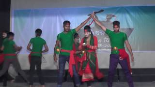 Group Dance Lal shobujer bijoy nishan Gurukul