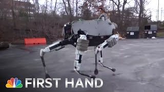 Boston Dynamics' Robot Dog 'Spot' Is Terrifyingly Lifelike | NBC News