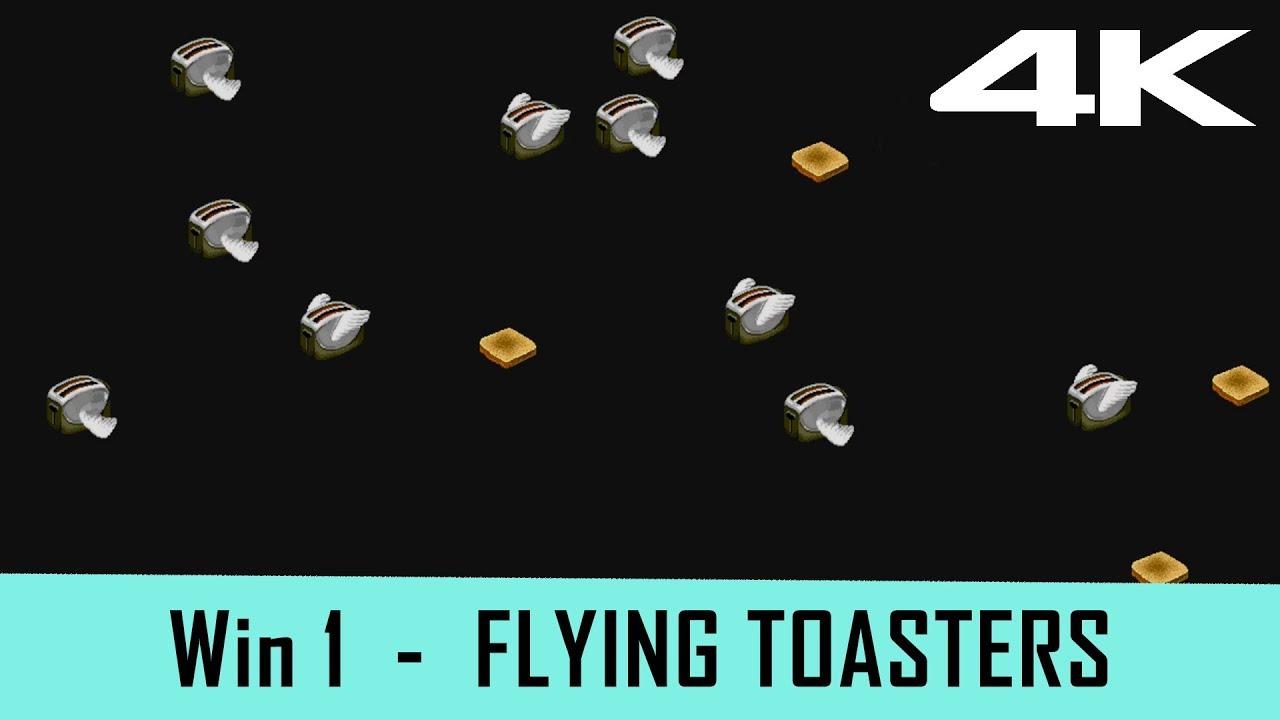 Windows 1 Screensaver Flying Toasters 4k Youtube