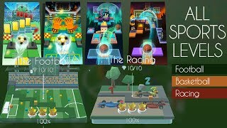 Rolling Sky & Dancing Line All Sports Theme Levels (Racing, World Cup, Basketball, Football) | SHA
