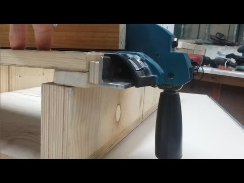 Two meters long guide rail for Makita MLT 100 workbench