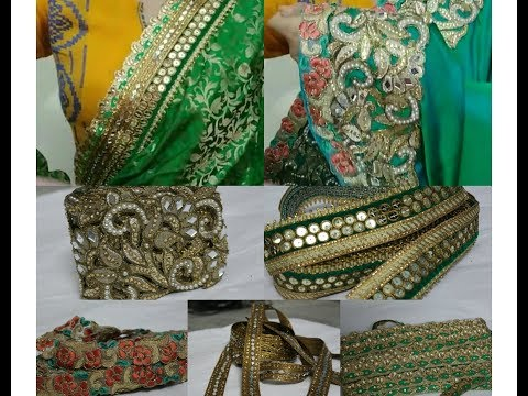 Buy Different varieties of Laces and Fabric for Sarees and How to Design saree.