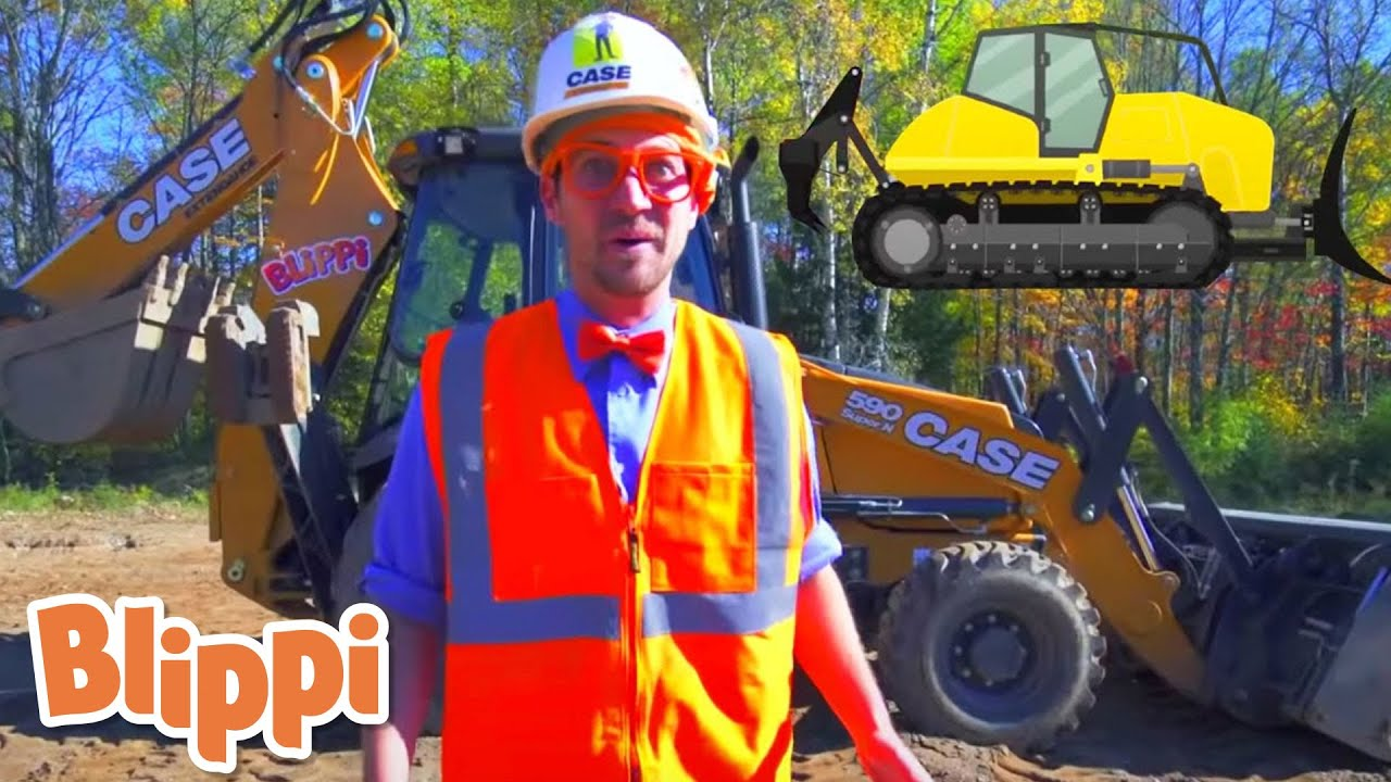 WOW! Blippi Learns About Construction Vehicles   Blippi   Learn with Blippi   Funny Videos & Songs