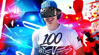 CRAZY NEW VR GAMEPLAY!! (SUPER HOT & BEAT SABER Highlights)