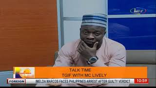 Talk Time On Morning Delight; TGIF with Comedian Mc Lively