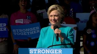 Clinton urges supporters not to get complacent, says Trump can still win