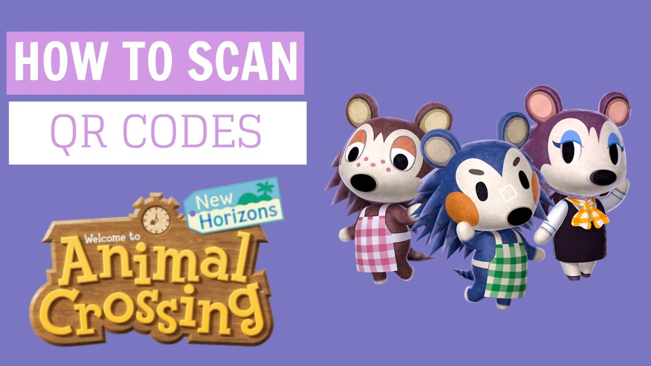 How to scan QR code designs in Animal Crossing: New
