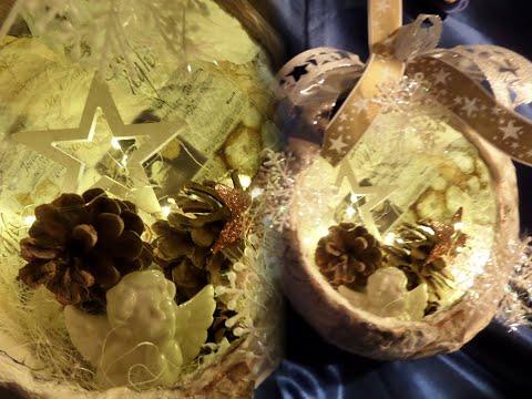 diy-basteln:-shabby-chic-xxl-weihnachtskugel-aus-küchenkrepp-:))