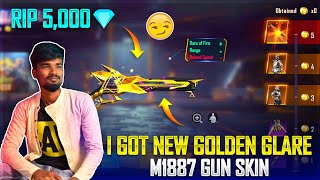 😭Gaming Tamizhan Crying Moment😭 | Free Fire New M1887 Golden Ascension Gun Skin Spinning Video Tamil