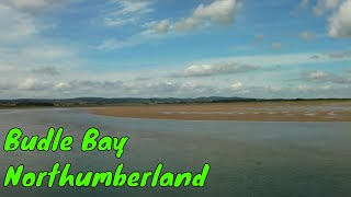 BUDLE BAY CARAVAN SITE & a walk to BAMBURGH - NORTHUMBERLAND - July 2015