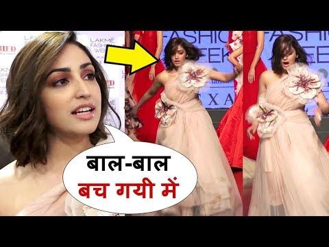 URI Actress Yami Gautam Almost FALLS During Ramp Walk At Lakme Fashion Week 2019