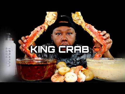 KING CRAB + SEAFOOD BOIL +ALFREDO SAUCE & DIPPIN DASH BUTTER SAUCE  |MUKBANG