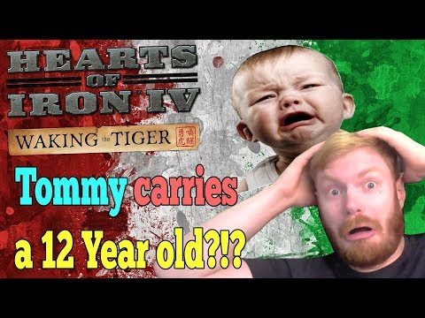TOMMY CARRIES A 12 YEAR OLD AS ITALY!? THE STORY OF GUSTAV! - HOI4 Multiplayer