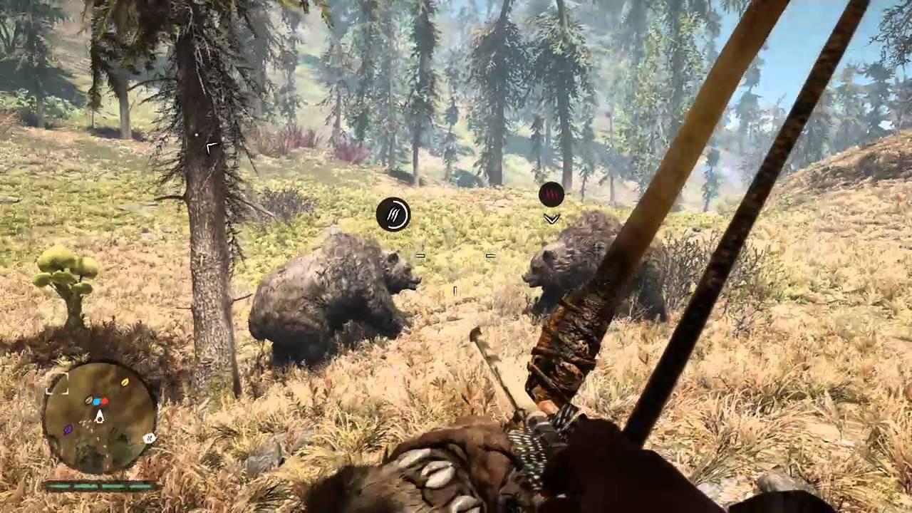 Far Cry Primal Bear Vs Bear Youtube