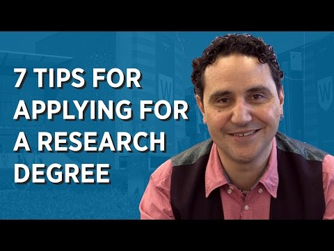 7 Tips for Applying for a Research Degree