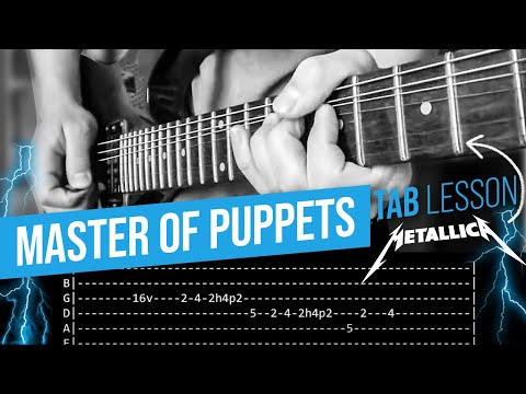 Master Of Puppets Guitar Solo Lesson  Metallica with tabs