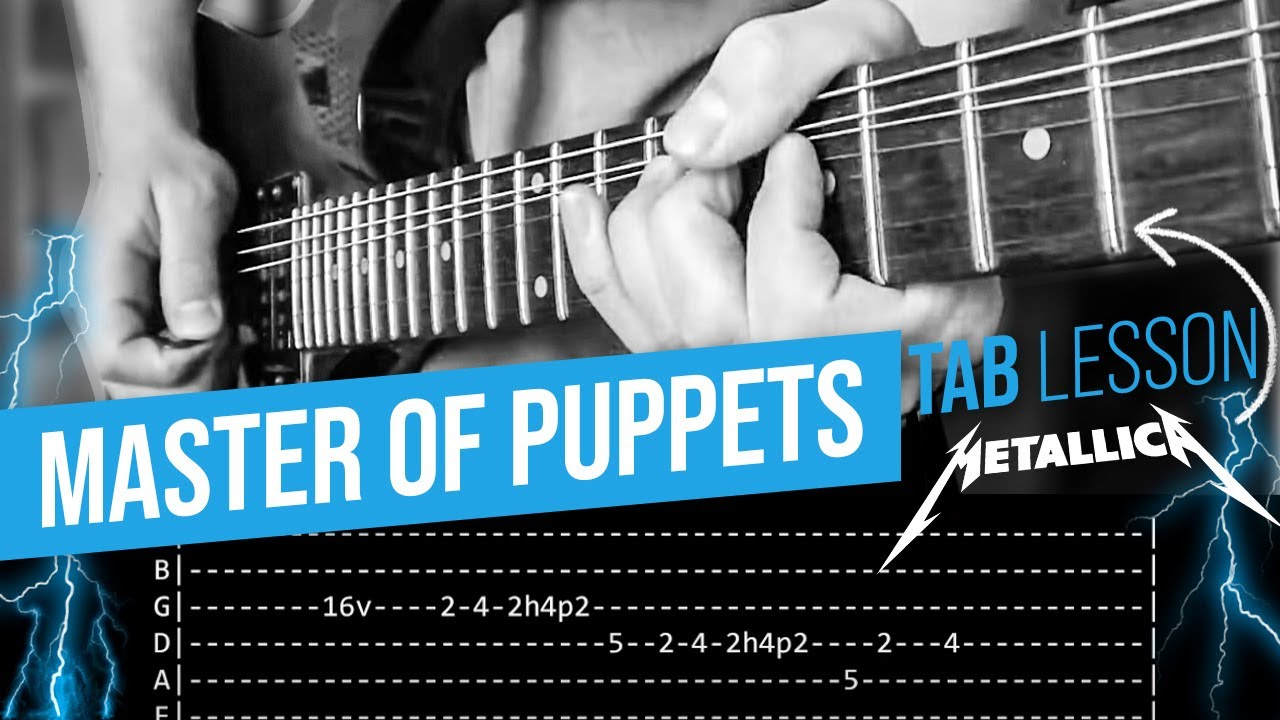 Master Of Puppets Guitar Solo Lesson - Metallica (with tabs)