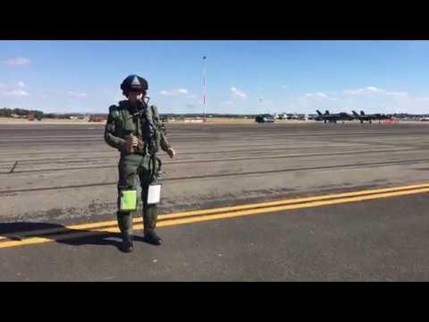 Pilot förbereder sig