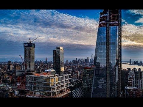 NYC Aerial Video 4k - Hudson Yards