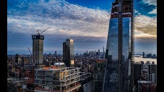 NYC Aerial Video 4k - Hudson Yards