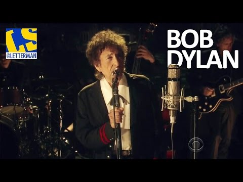 """[HD] Bob Dylan - """"The Night We Called It a Day"""" 05/19/15 David Letterman"""