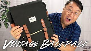 Puersit Vintage Black Canvas Laptop Backpack Review