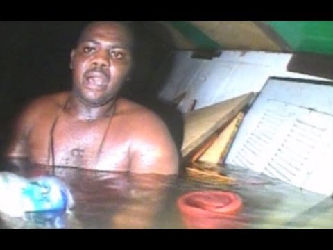 Moment divers find man alive in sunken ship off Nigerian coast