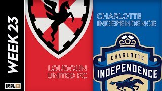 Loudoun United FC vs. Charlotte Independence: August 9th, 2019
