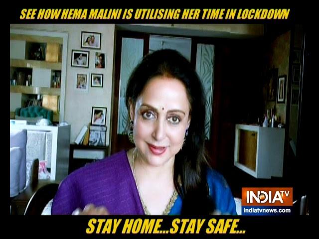 What Is Bollywood S Dream Girl Hema Malini Doing During The Coronavirus Lockdown Youtube
