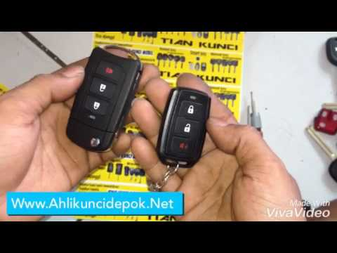 Cara Setting Alarm Grand New Avanza All Corolla Altis Pindahkan Remot Ke Flipkey Youtube