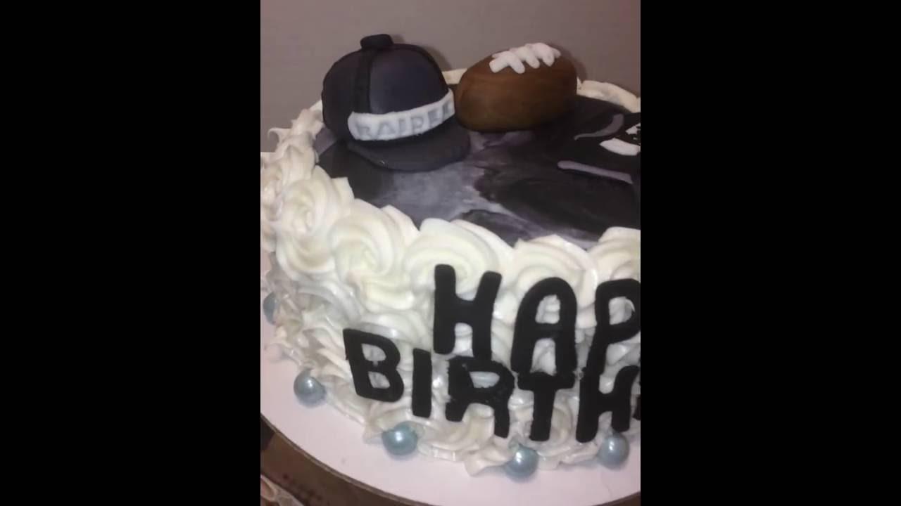 Oakland Raider Cake And Cupcakes Cake Pops Youtube