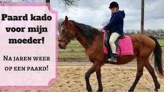 Moeder krijgt paard voor haar verjaardag kado!