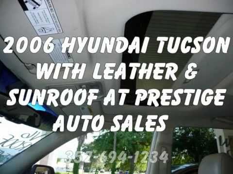 2006 Hyundai Tucson with Leather & Sunroof at Prestige Auto Sales