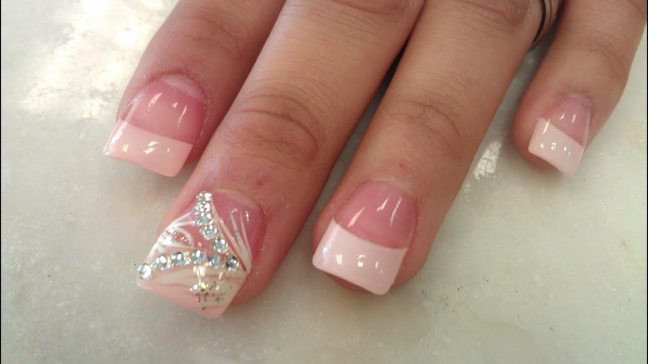 pretty blush pink nails