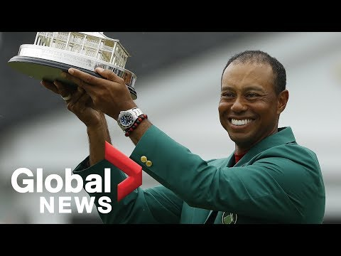 Tiger Woods calls Masters win 'unreal', says he's happy family saw win