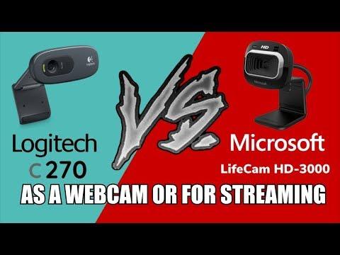 Logitech C270 VS Microsoft Lifecam HD-3000 As A Webcam Or For Streaming