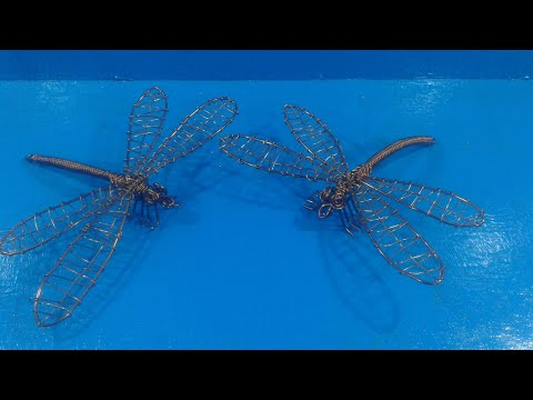 How to make a dragonfly with wire by chef PawanKumar
