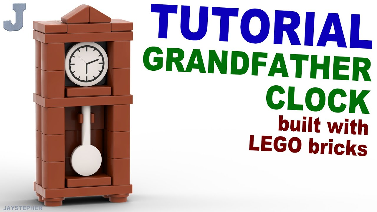 LEGO Grandfather Clock Tutorial How to Building Technique ...