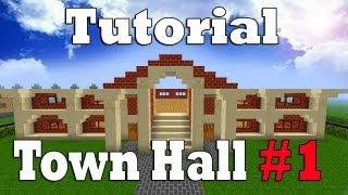 minecraft town hall tutorial
