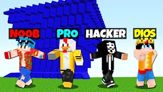 MINECRAFT: RETO DE LA BASE Vs TSUNAMI Vs NOOB Vs PRO Vs HACKER VS DIOS 😱🌊 ¿NOS SALVAREMOS?