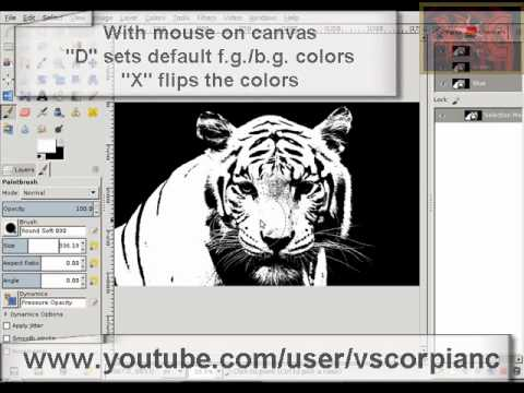 072735baa00e GIMP Tutorial - Use Channel Mask to Select Hair and Fur by VscorpianC