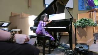 Hannah Playing at Mommy's Piano Recital  June 12, 2014  5yo thumbnail