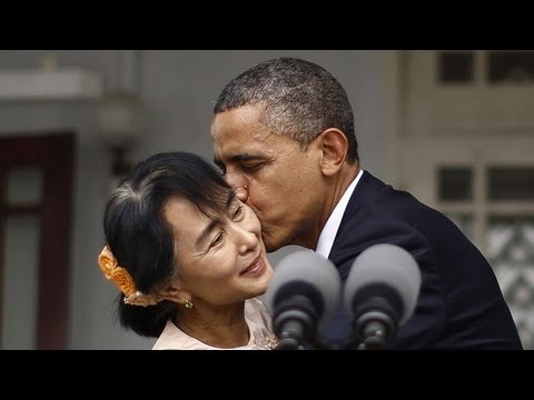 President Obama's Trip to Burma Myanmar Aung San Suu Kyi, University of Yangon 2012