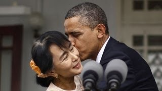 President Obama's Trip To Burma (Myanmar): Aung San Suu Kyi, University Of Yangon (2012)