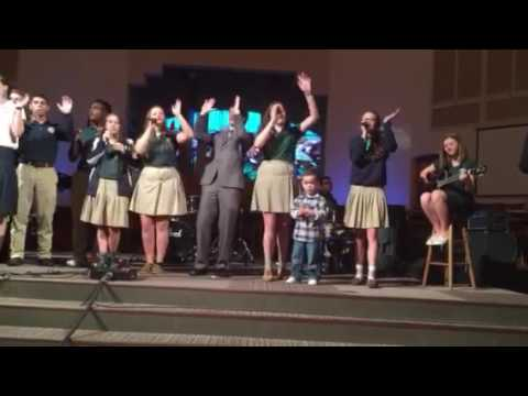 Israel's debut on Banner Christian School's Praise Team!