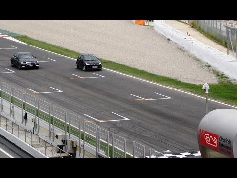 SMART forfour BRABUS  Vs Mercedes E63 AMG Barcelona-Catalunya Circuit 2014-09-21